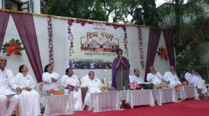 Respected Sister D. Thara, Ahmedabad Municipal commissioner addressing Divya Nagari Family